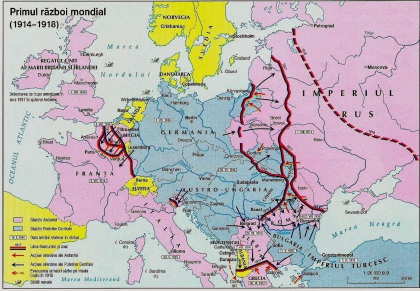 Harta primului razboi mondial