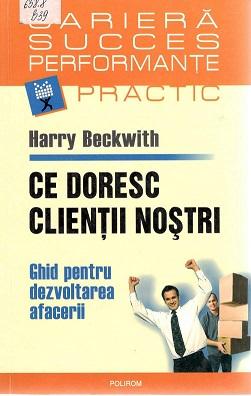 Beckwith_Ce doresc clienții noștri